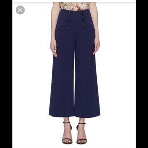 Nwt alice + olivia ferris button wide leg pants